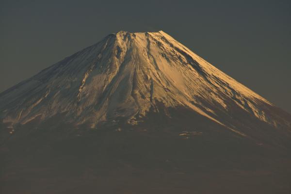 [ 甘利山からの富士山山頂付近 ]  甘利山から望む富士山の山頂