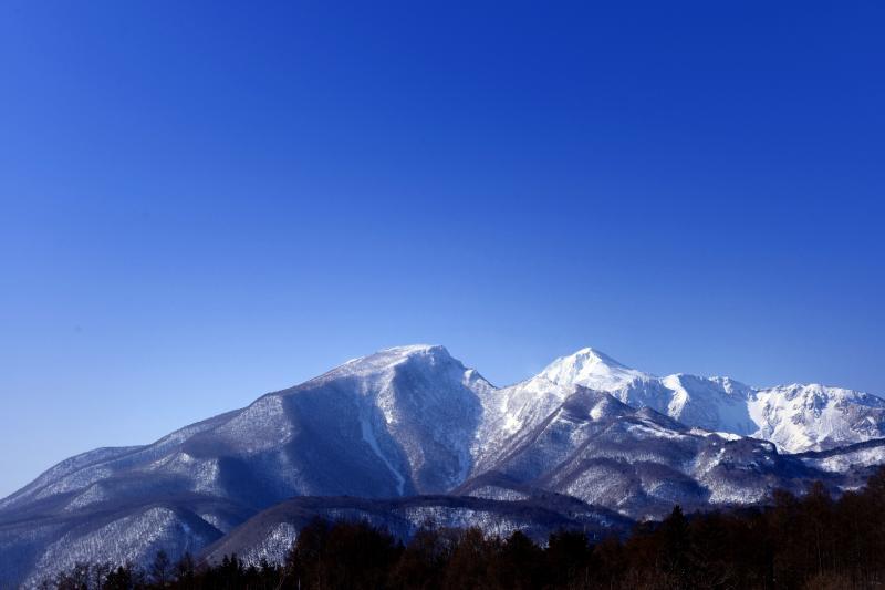 [ 雪の磐梯山 ]  雪の磐梯山と青空が綺麗でした