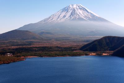 [ パノラマ台からの富士山 ]  本栖湖のパノラマ台から撮影した富士山