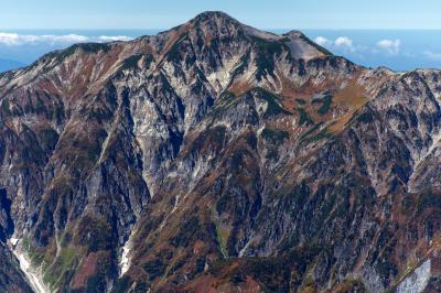 笠ヶ岳| 奥穂高岳から見た笠ヶ岳