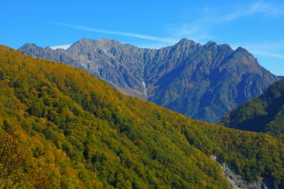 穂高連峰| 安房峠には駐車場があり、そこから雄大な穂高連峰を望むことができます。