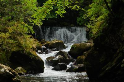 番所小滝| 番所大滝に比べ小さな滝です。