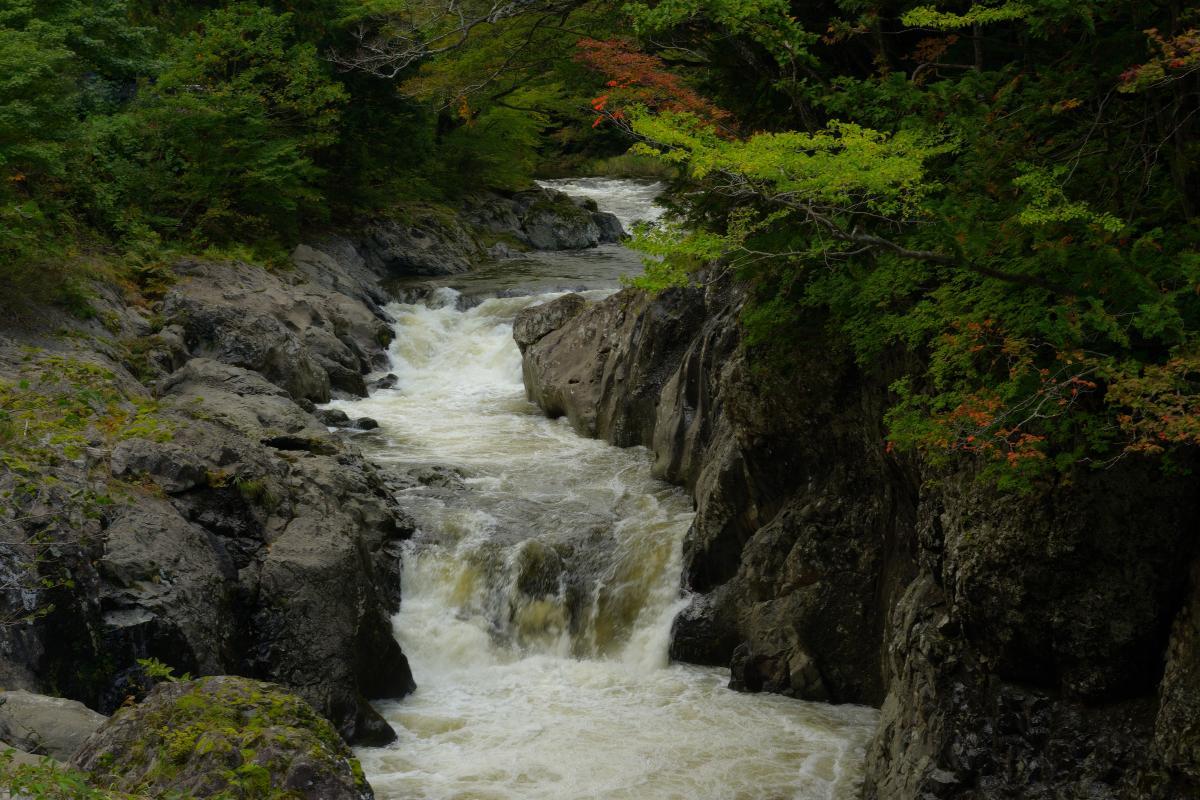 薬研渓谷」下北半島の温泉近くにある美しい渓谷   ピクスポット ...
