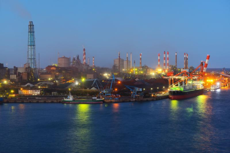 港公園 工場風景|