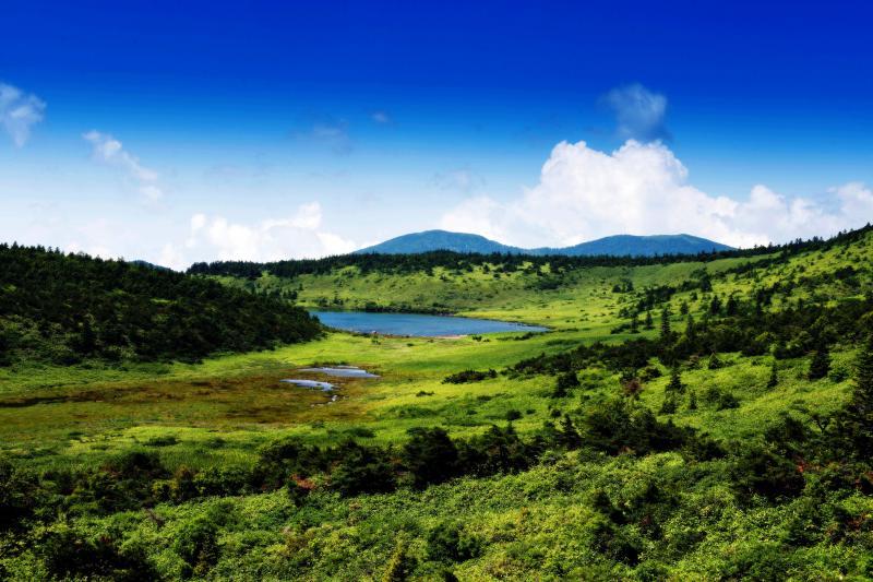 鎌沼風景 | 鎌沼の端っこが見えてきます