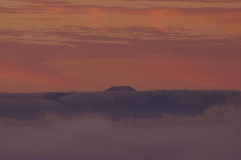 [ 登場 ]  富士山が顔を出してくれました。