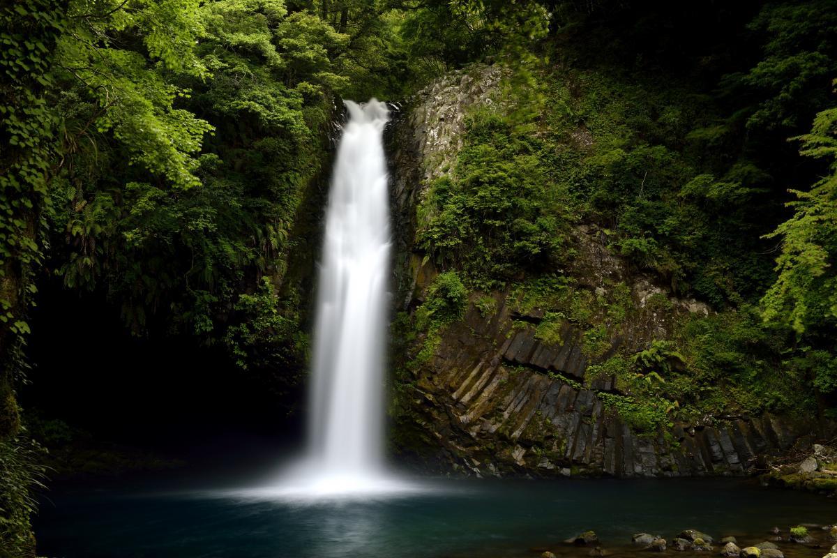 浄蓮の滝 一筋の流れ。