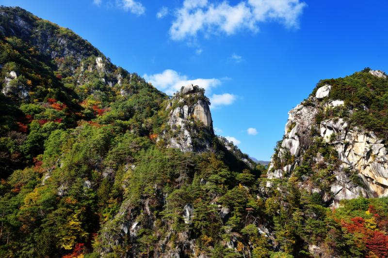 昇仙峡の奇岩風景   面白い奇岩がいくつもあります。