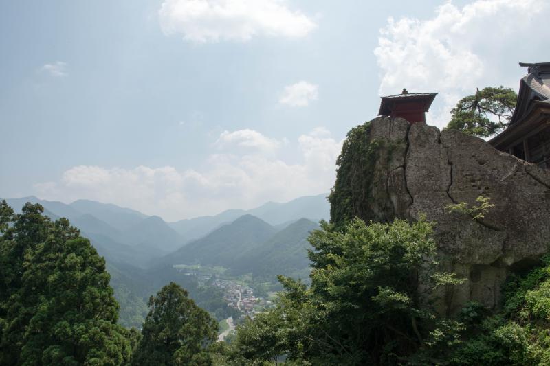 山寺にて| 絶景ポイントから撮影