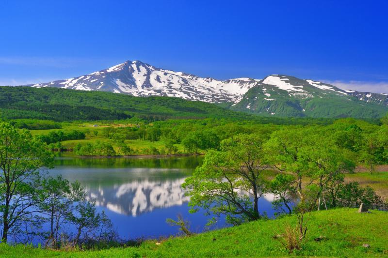 [ 扇谷地溜池俯瞰 ]  展望台からの景観です。
