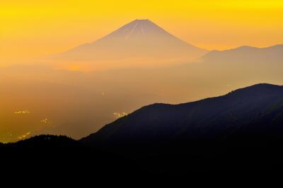 富士山 朝焼け|