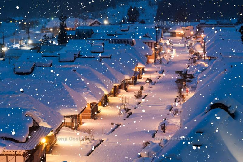 大内宿 雪景色 